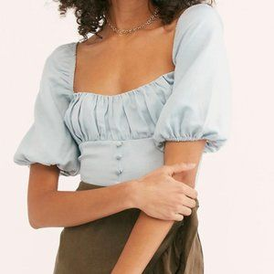 Free People Eloise Puffy Blouse